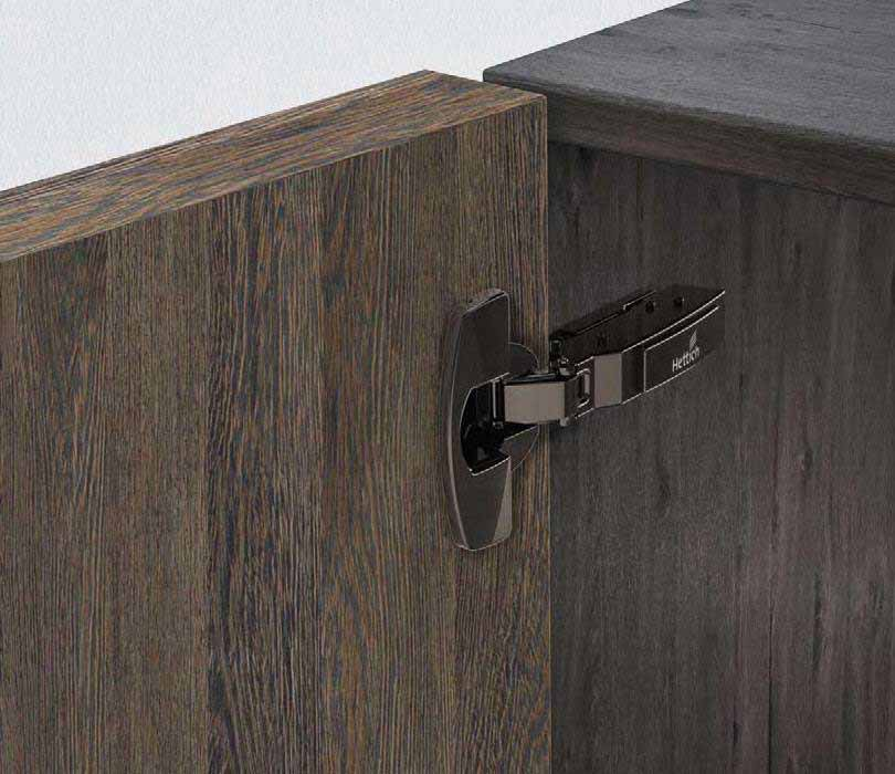 THICK DOOR HINGE -  Sensys thick door hinge in obsidian black Superb furniture design with narrow, exact reveals - For thick doors / profile doors up to 32 mm - 95° opening angle
